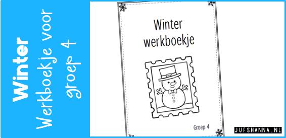 Uitgelezene JufShanna.nl | Thema winter - werkboekje voor groep 4 GO-42
