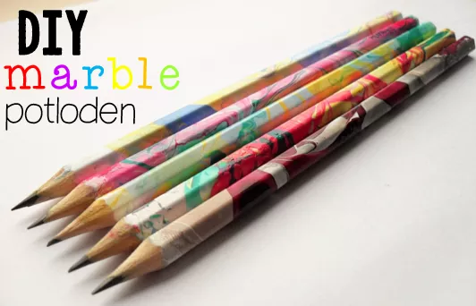 JufShanna: DIY marble potloden