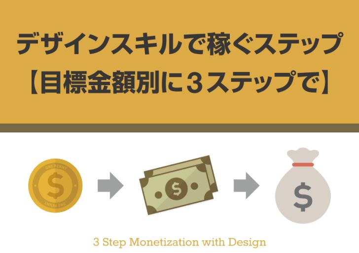 デザインスキルを活かして稼ぐステップ【目標金額別に3ステップで】