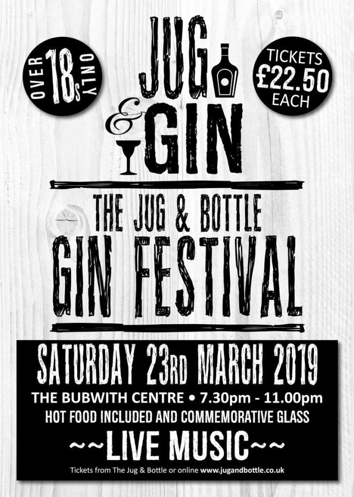 The first ever Jug & Bottle Gin Festival in Bubwith