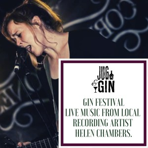 Helen Chambers at the Jug and Gin festival in Bubwith