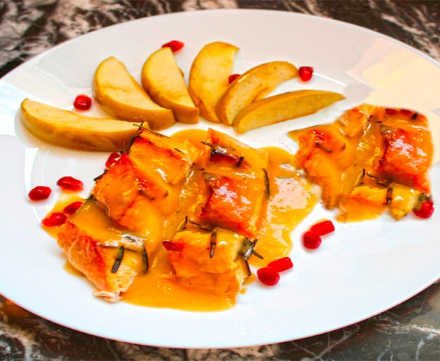 pavo asado con salsa de lima