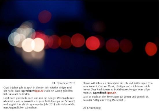 Weihnachts- und Neujahrskarte 2010