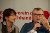 Katharina Ebinger (Gabriel-Verlag) und Oscar Brenifier // Foto: Ulf Cronenberg, Würzburg