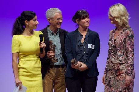 Claude K. Dubois und Übersetzer Tobias Scheffel, Preisträger im Bereich Kinderbuch || Foto: © Ulf Cronenberg