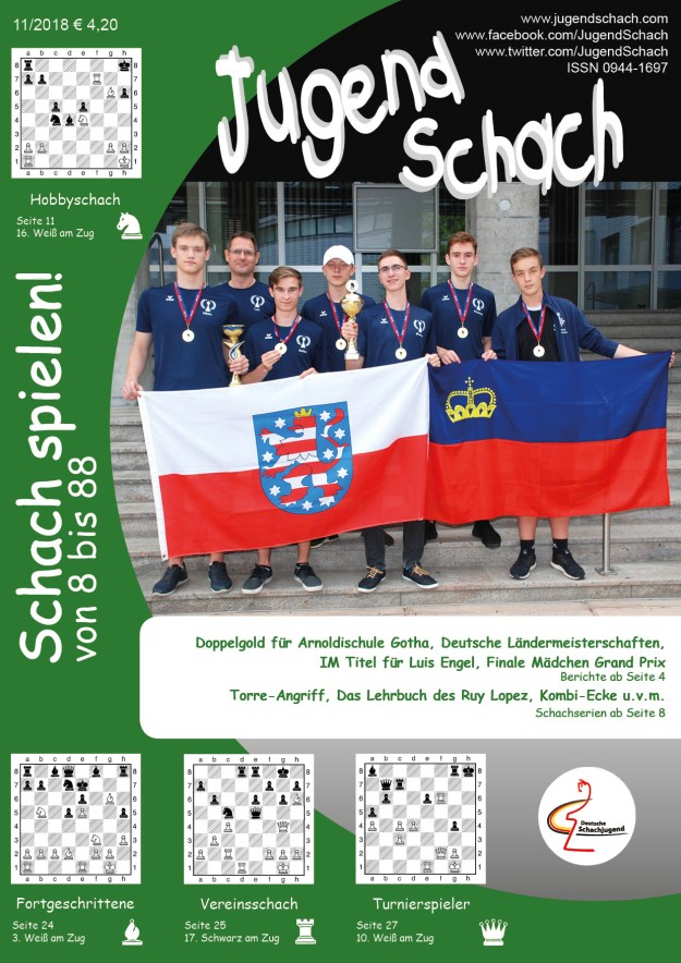 JugendSchach Ausgabe 11 2018 Titelseite