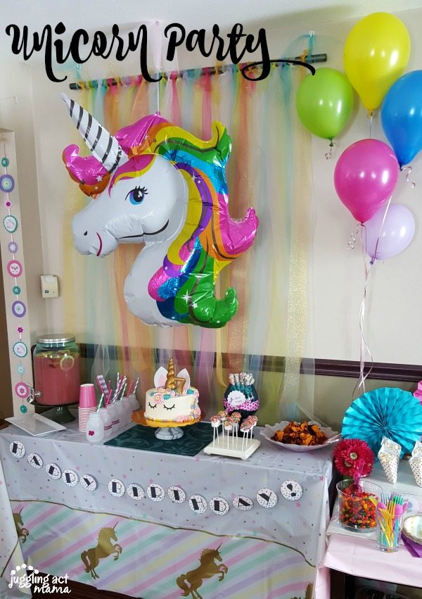 Unicorn Birthday Cake Table