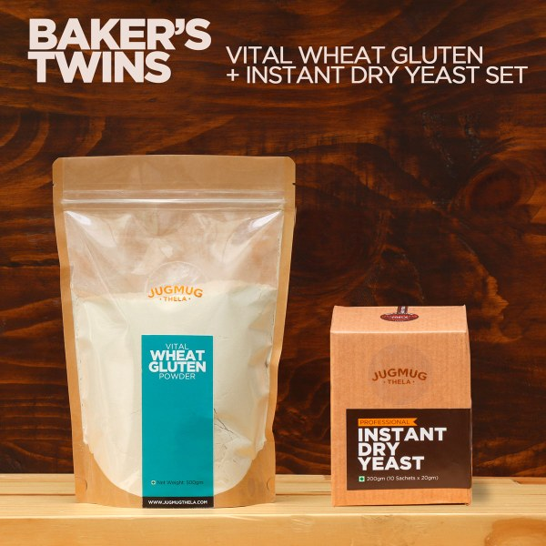 Baker's twins - set of Vital Wheat Gluten & Instant Dry Yeast