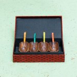 Barfi---Mini-Wooden-Tray-with-4-Spoons--Red-Sheesham