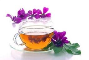 La planta de té de malva