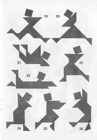 Piezas del Tangram con soluciones 3