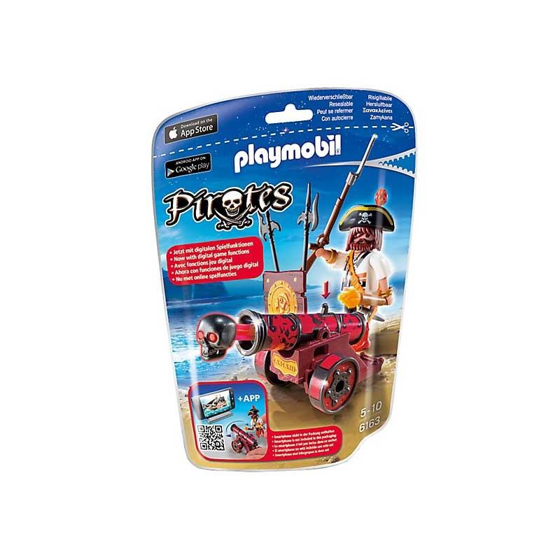 Playmobil 6163 Capitán pirata rojo con cañon