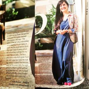 Femina October 2016- A not-so-traditional festive look by JB.