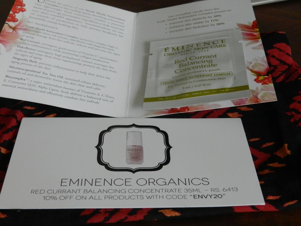Eminence Organics Red Currant Balancing Concentrate