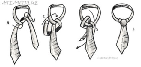 How to tie an atlantic knot