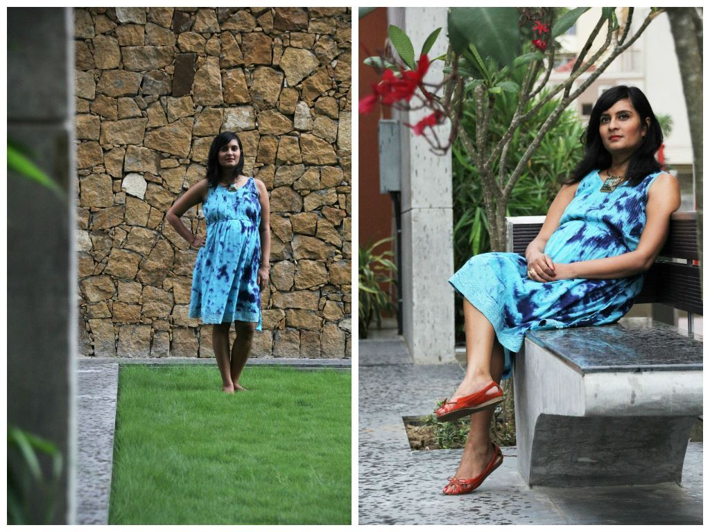 Dress: Nine Maternity Wear (Buy) Click on the pic for full styling details
