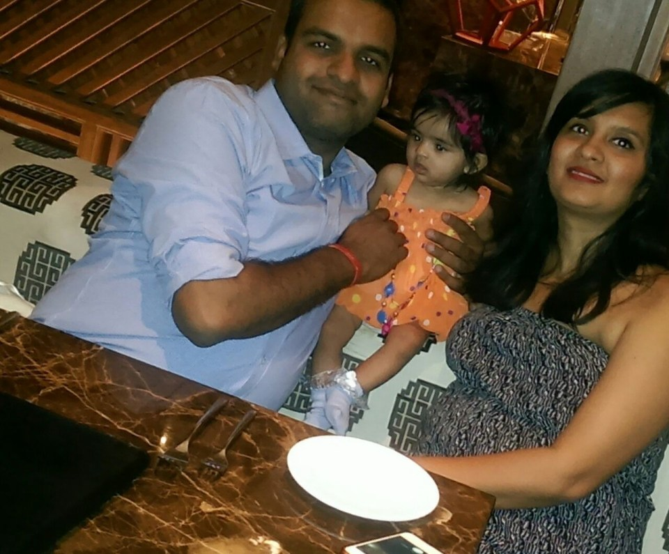 And that's all 3 of us. Iy is wearing a dress gifted to her by her bua (K's sister)