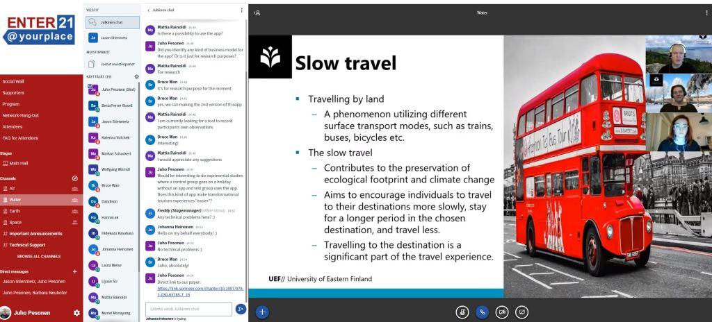 ENTER conference presentation on slow tourism