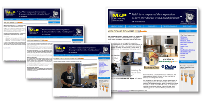 M&P Decorating Solutions Website Design Wiltshire