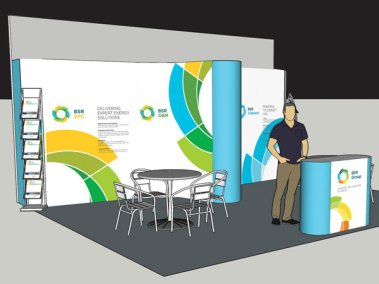 British Solar Renewables BSR Exhibition Design