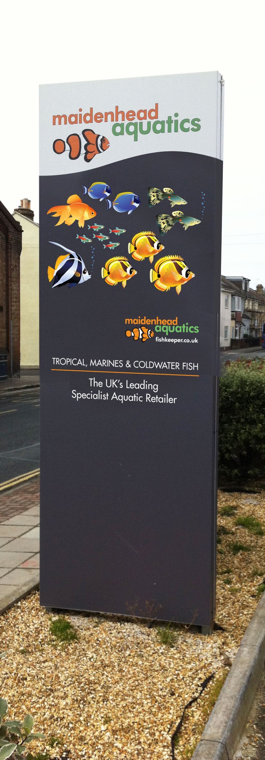 Maidenhead Aquatics Southsea Totem Sign