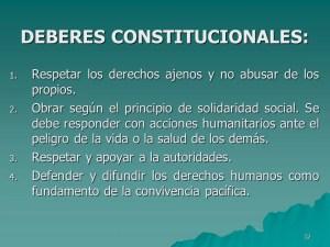 Deberes de la constitución
