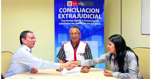 Conciliación extrajudicial en derecho.