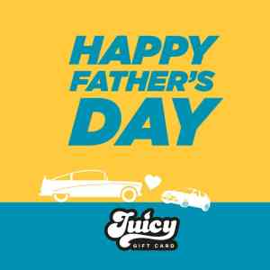 Happy Fathers Day Gift Cards for Car Cleaning Products