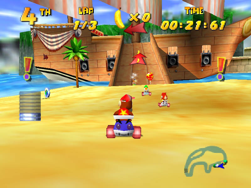 Image result for diddy kong racing gameplay
