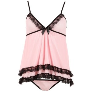 Cottelli Collection - Babydoll-Set Rosa