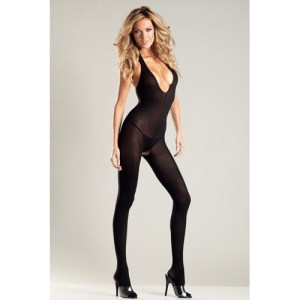 Be Wicked - Crotchless Bodystocking With Halterneck