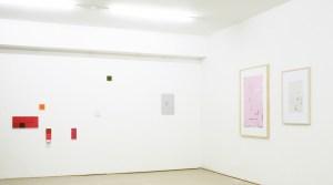 v.r.n.l. Remainder 2, 2010, Fotoarbeit, 48 x 32 cm, Labyrinth 3, 2010, digitale Fotoarbeit, Pigmentdruck, 120x 85 cm ohne Titel, 2009, Photocut auf grau grundierter Aluminium-Platte, 36 x 26 cm (links: mehrteilige Arbeit von Thomas Kemper) Foto: W. Lüttgens
