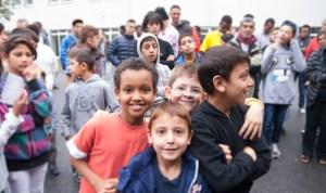 Flüchtlingskinder in der Erstaufnahme in Essen, Oktober 2014