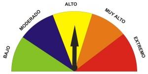(ALTO) grado peligrosidad incendio forestal