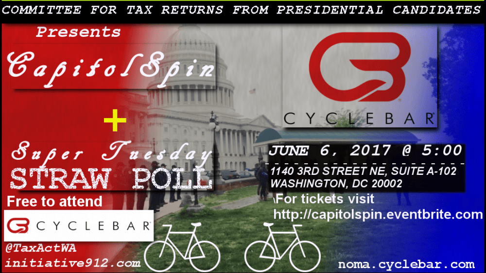 Group Demanding Tax Returns from Presidential Candidates Holds Free DC Event
