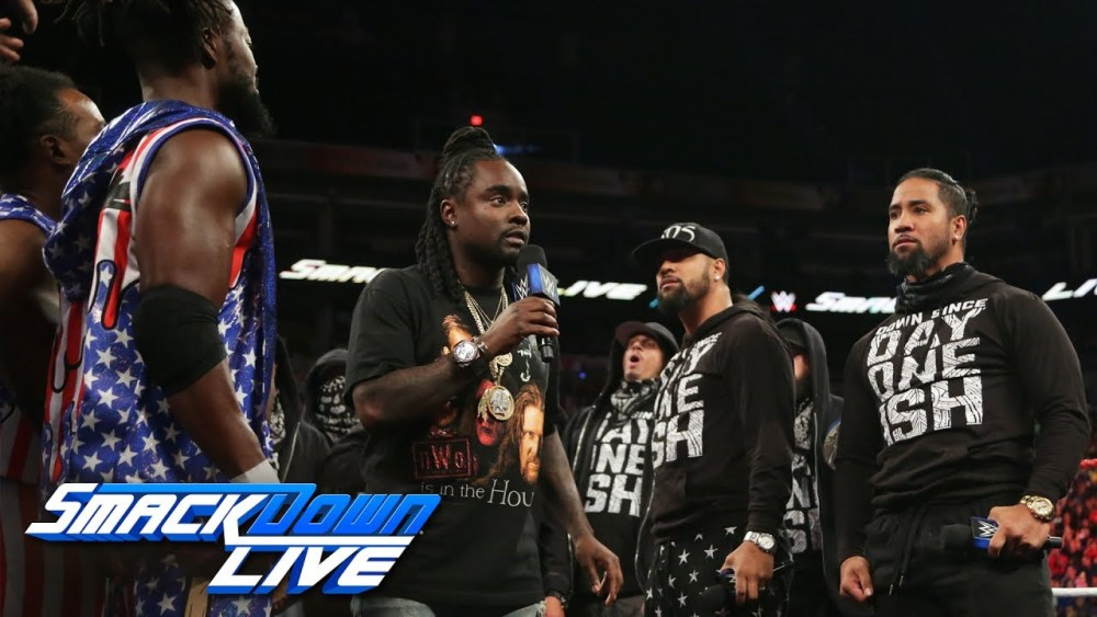 LOL: Wale Hosts Rap Battle Between The New Day and The Usos (Video)
