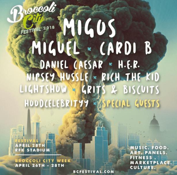 LINE-UP: Broccoli City Festival 2018