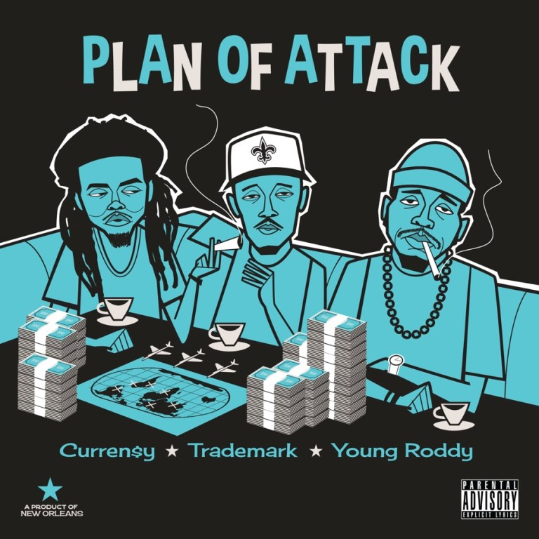 Curren$y, Trademark Da Skydiver & Young Roddy – 'Plan of Attack' (Stream)
