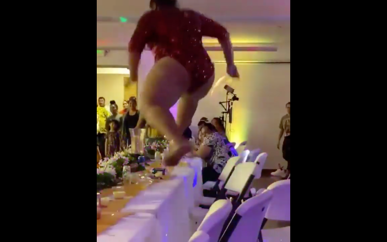 VIDEO: Lizzo The Wedding Crasher…Really Though!