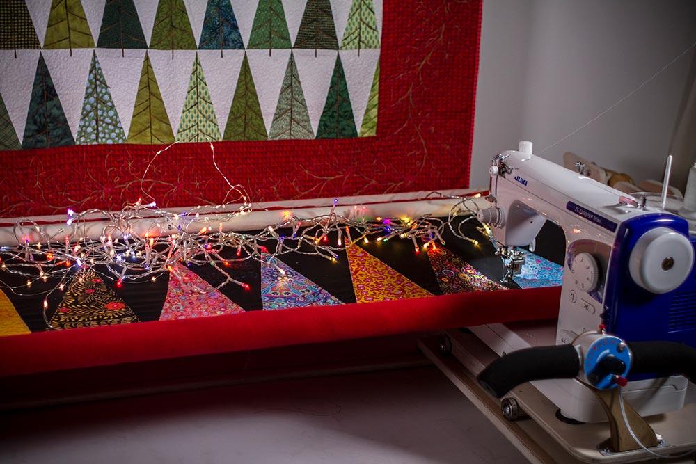 Merry Bright Christmas Tree Table Runner Tutorial Juki Club