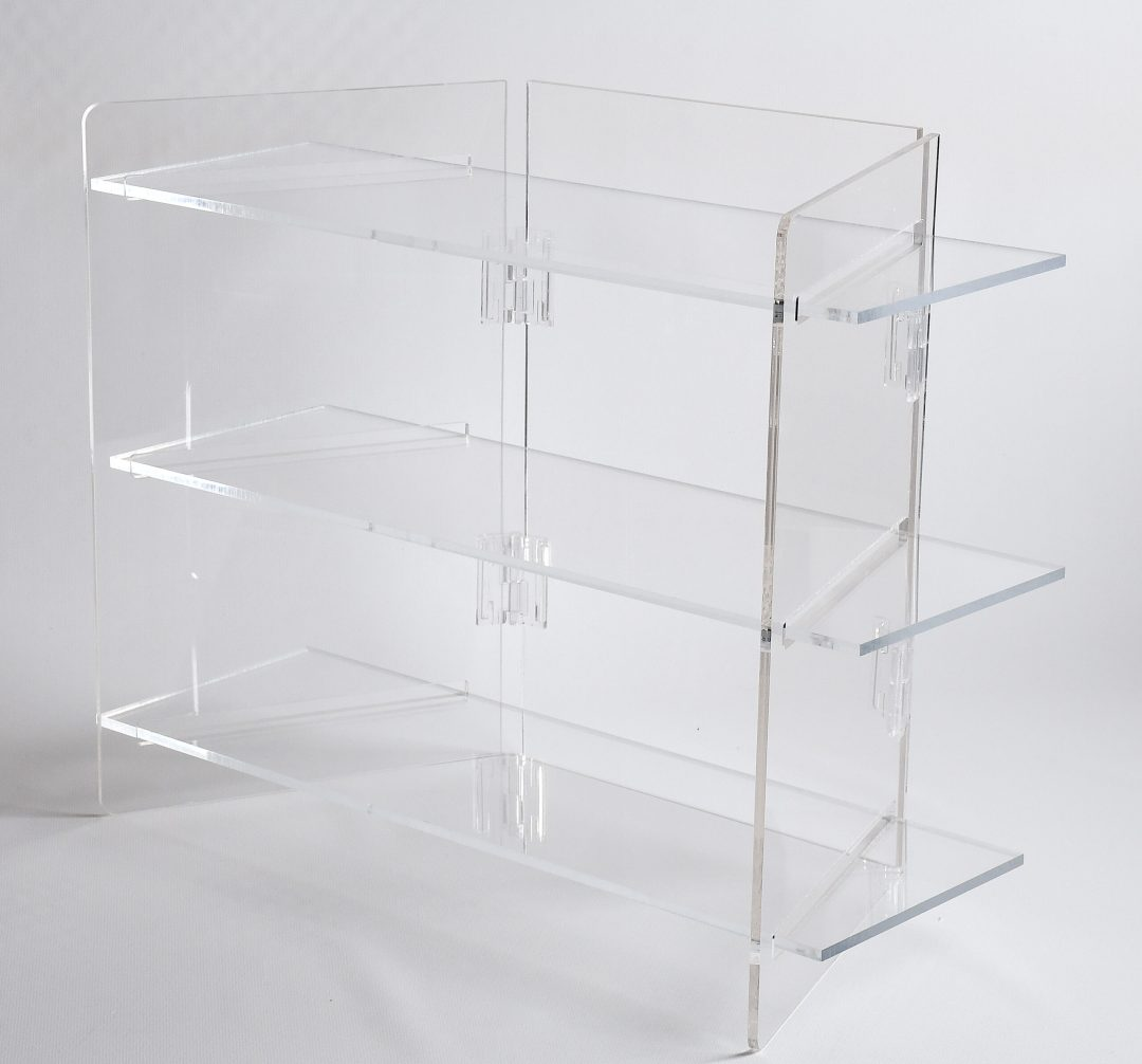 three shelf folding display