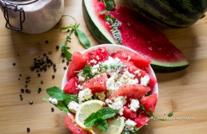 Watermelon Feta Salad - Jules HappyHealthyLife