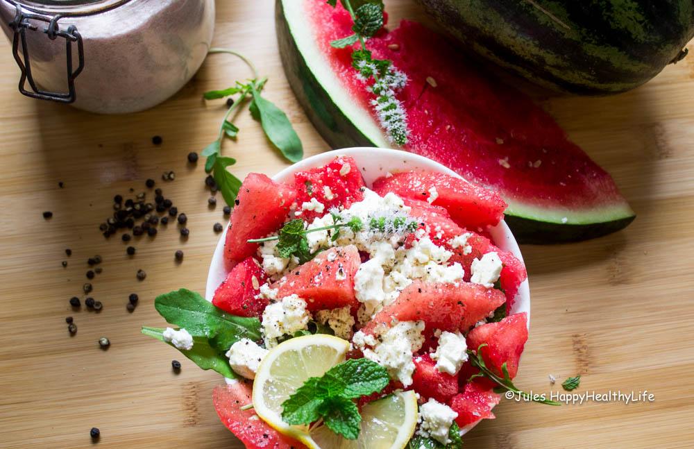 Wassermelonen Feta Salat - Jules HappyHealthyLife