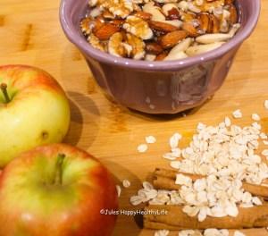 Zutaten für Jules HappyHealthyLife Apfel Zimt Granola