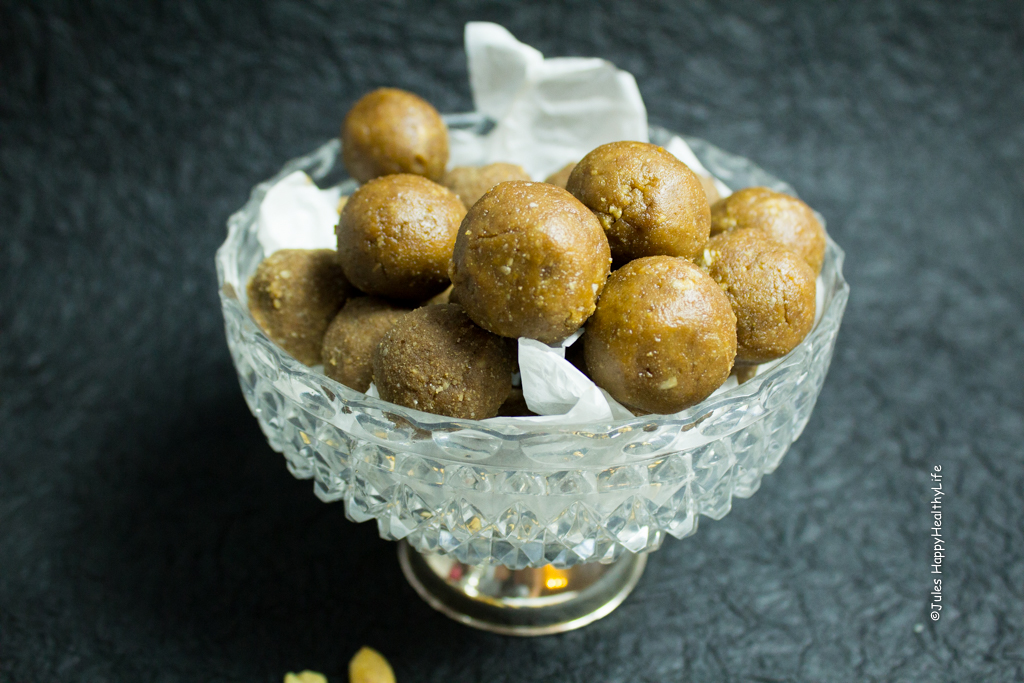 Erdnussbutter Protein Kugeln vegan, glutenfrei - Jules HappyHealthyLife Food Blog