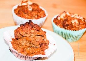 Kaum Zucker und trotzdem süß ist der Karotten Apfel Muffin
