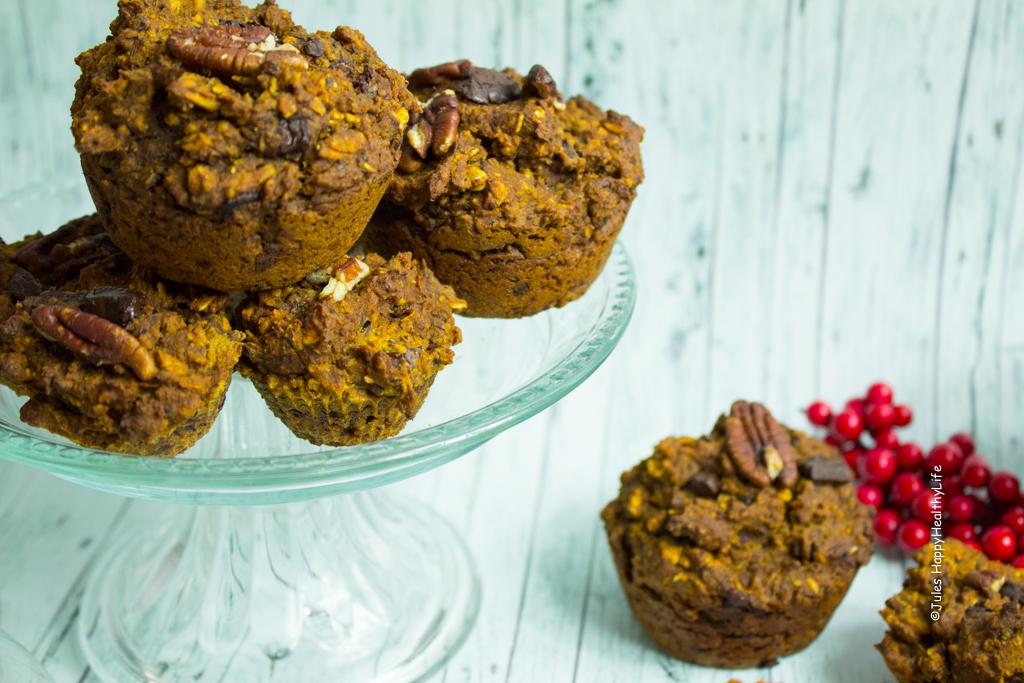 LYummy chocolate pumpkin pie Muffins glutenfrei und vegan - Jules HappyHealthyLife Food Blog
