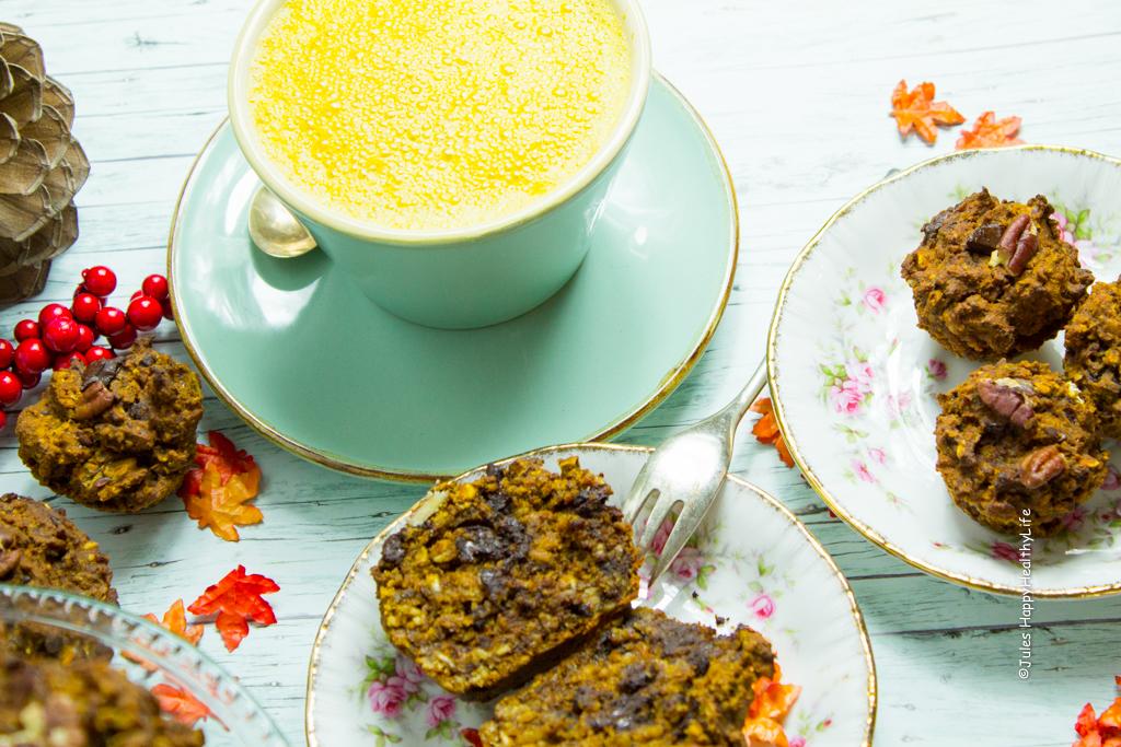 Schoko Kurbiskuchen Muffins Jules Happyhealthylife