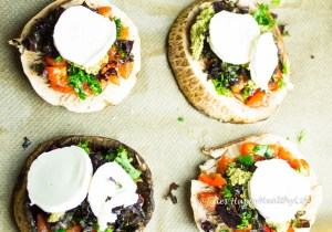 glutenfreie Portobello Pilz Pizza mit Ziegenkäse - Jules HappyHealthyLife glutenfreier Food Blog