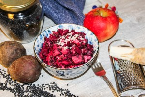 Beetroot salad great to prepare ahead- Jules HappHealthyLife
